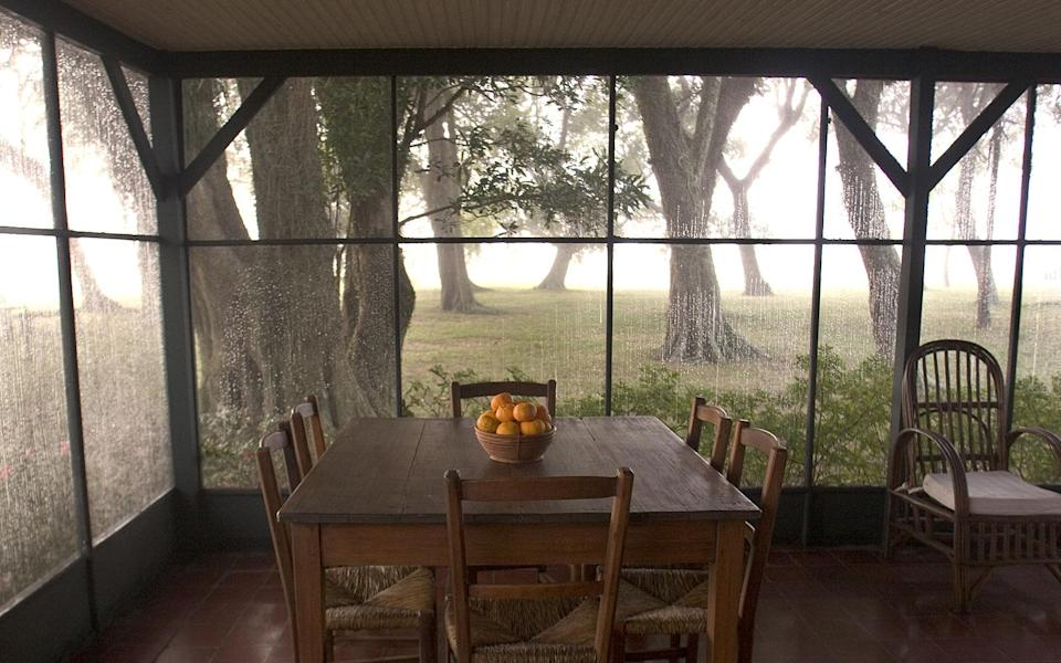 """<p>Flocks of ibis and egrets fill the sky at this 25,000-acre hideaway in northeastern Argentina's Paraná Lake. Owner Douglas Tompkins-the founder of fashion label Esprit-transformed a former cattle ranch into <strong>Estancia San Alonso</strong> <em>(54-3782/497-172; <a href=""""http://www.sanalonso.com/"""" rel=""""nofollow noopener"""" target=""""_blank"""" data-ylk=""""slk:sanalonso.com"""" class=""""link rapid-noclick-resp"""">sanalonso.com</a>; doubles from $160, all-inclusive),</em> with five rustic-chic suites. Guests arrive by aircraft from the city of Posadas <em>(arranged by the hotel; $770 round-trip for up to three people),</em> on the mainland, and head out on twice-daily fauna-spotting forays-if you're lucky, you'll see caimans and the endangered pampas deer. After, return to the lodge for a fireside barbecue.</p><p><strong>T+L Tip:</strong> Take a fly-fishing tour (arranged by the hotel) to catch a 15-pound golden dorado. -<em>Colin Barraclough</em></p>"""