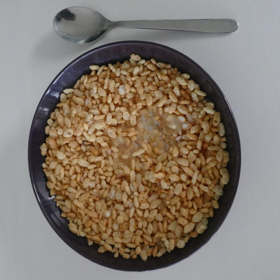 Cereal for breakfast.