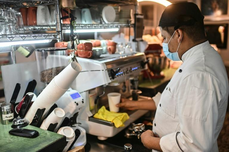 Restaurants in Mexico City now rely on take away or home delivery as sit-down dining has been suspended due to the pandemic