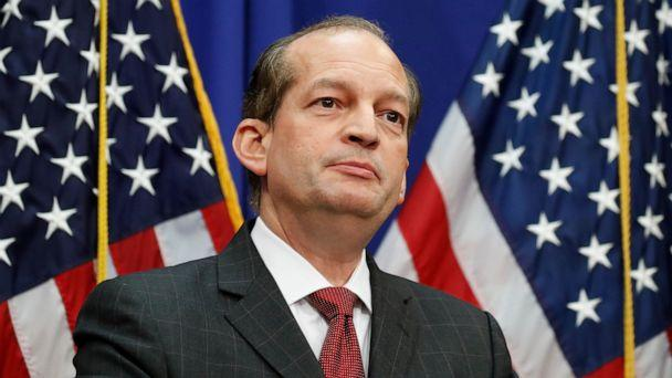 PHOTO: Labor Secretary Alex Acosta speaks during a media availability at the Department of Labor, Wednesday, July 10, 2019, in Washington.  (Alex Brandon/AP, File)