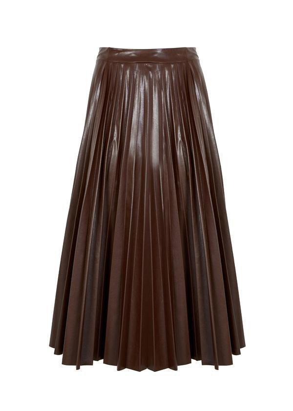 "<p><strong>Frankie Shop</strong></p><p>thefrankieshop.com</p><p><strong>$109.00</strong></p><p><a href=""https://thefrankieshop.com/products/pleated-faux-leather-midi-skirt-in-chocolate?_pos=1&_sid=082c680ef&_ss=r"" rel=""nofollow noopener"" target=""_blank"" data-ylk=""slk:SHOP IT"" class=""link rapid-noclick-resp"">SHOP IT</a></p><p>Elevate your winter wardrobe with a pleated leather midi skirt. This one from The Frankie Shop will pair well with snakeskin boots and a chic sweater. </p>"