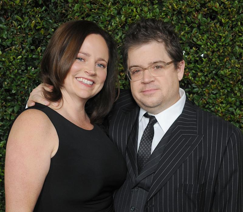BEVERLY HILLS, CA - DECEMBER 15: Actor Patton Oswalt and wife Michelle McNamara arrive at the