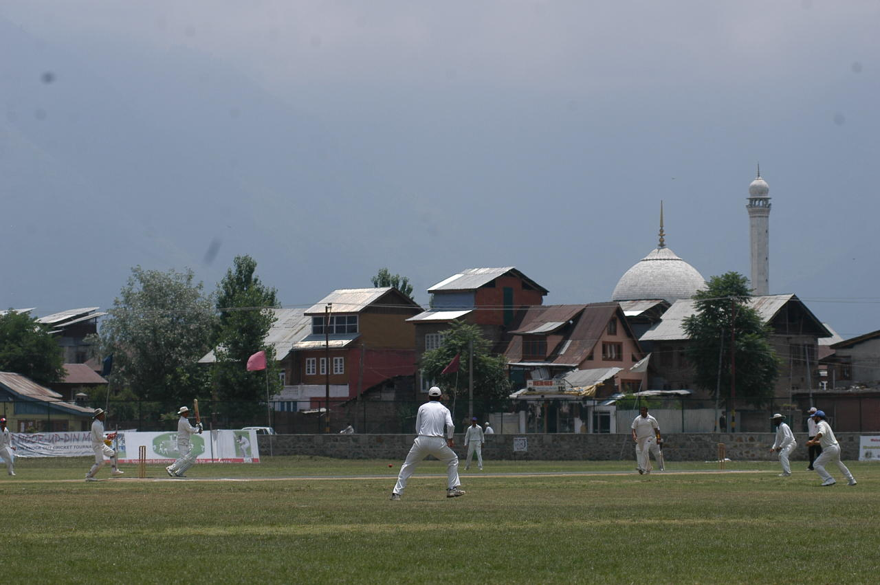 INDIA - JUNE 18:  View of the Cricket Club in Hazratbal area in Srinagar, Jammu & Kashmir, India  (Photo by Ishan Tankha/The India Today Group/Getty Images)