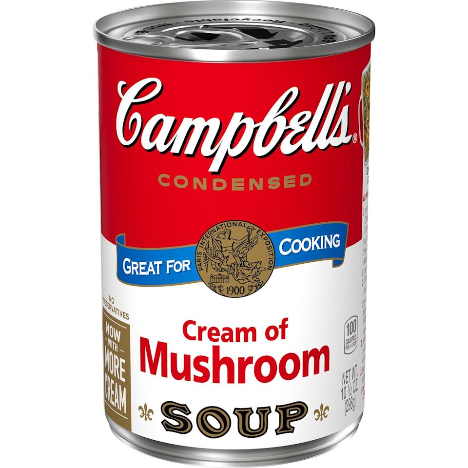 "<p>""I love green bean casserole, and this <span>Campbell's Condensed Cream of Mushroom Soup</span> ($1) is a star ingredient. It's a must have for me."" - India Yaffe, associate editor, commerce</p>"