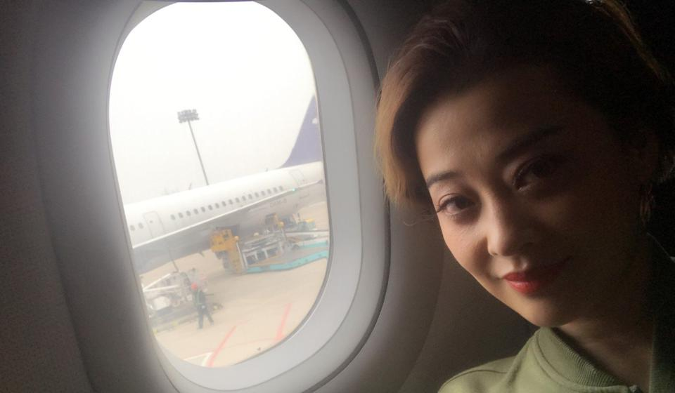 Actress Mei Ting says she will pay attention to her behaviour in the future. Photo: Weibo