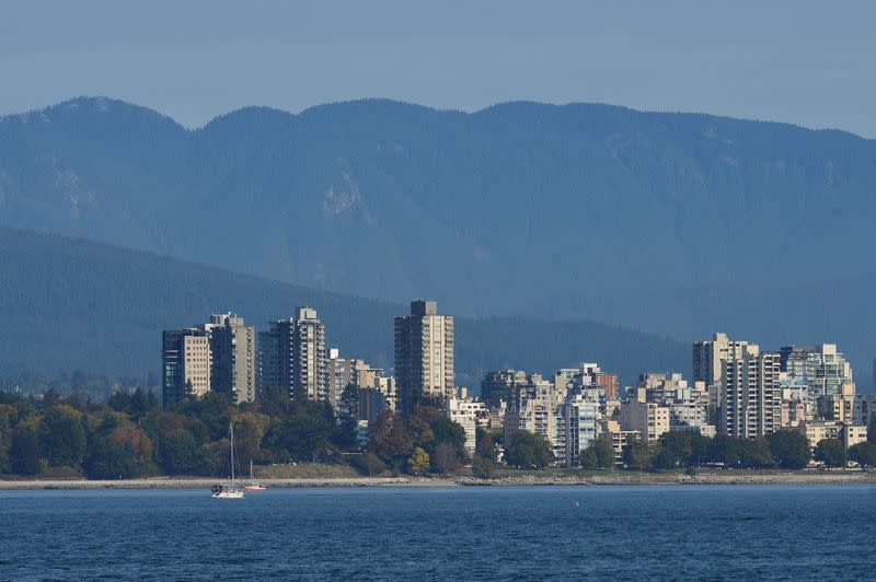 FILE PHOTO: The West End is seen on the mountain-backed skyline of Vancouver