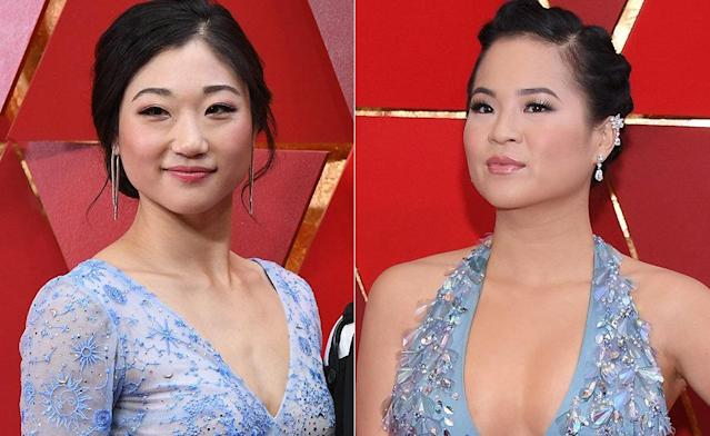 Olympic skater Mirai Nagasu and actress Kelly Marie Tran.