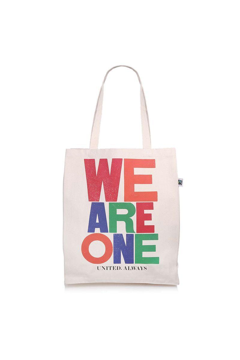 """<p>Kurt Geiger has launched a canvas 'We Are One' tote bag with 100% of profits going to the NHS. The brand collaborated with the artist Anthony Burrill to feature his colourful 'WE ARE ONE' print.<br><br>Tote, £20, <a href=""""https://go.redirectingat.com?id=127X1599956&url=https%3A%2F%2Fwww.kurtgeiger.com%2Flimited-edition&sref=https%3A%2F%2Fwww.elle.com%2Fuk%2Ffashion%2Fwhat-to-wear%2Fg32252%2Ffashion-brands-charity-collaborations%2F"""" rel=""""nofollow noopener"""" target=""""_blank"""" data-ylk=""""slk:kurtgeiger.com"""" class=""""link rapid-noclick-resp"""">kurtgeiger.com</a>.</p><p><a class=""""link rapid-noclick-resp"""" href=""""https://go.redirectingat.com?id=127X1599956&url=https%3A%2F%2Fwww.kurtgeiger.com%2Flimited-edition&sref=https%3A%2F%2Fwww.elle.com%2Fuk%2Ffashion%2Fwhat-to-wear%2Fg32252%2Ffashion-brands-charity-collaborations%2F"""" rel=""""nofollow noopener"""" target=""""_blank"""" data-ylk=""""slk:SUPPORT NOW"""">SUPPORT NOW</a></p>"""