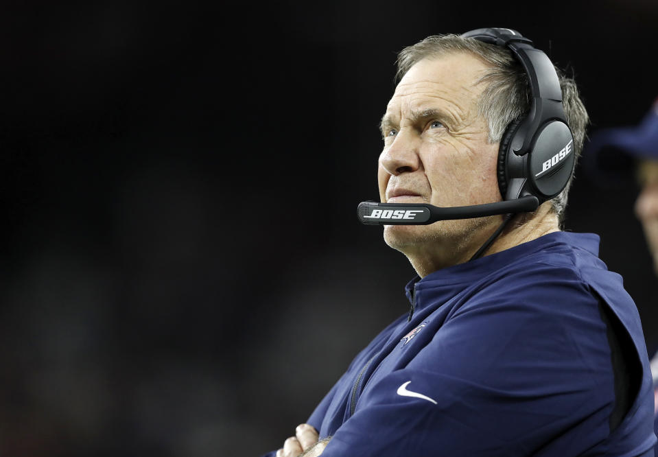 Patriots coach Bill Belichick wasn't happy after Sunday's loss. (Photo by Tim Warner/Getty Images)