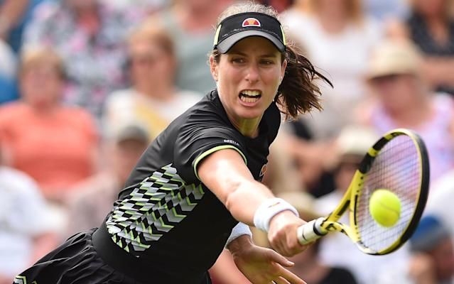 Johanna Konta could avoid playing a seeded opponent until the semi-final at Eastbourne - AFP