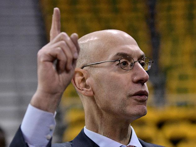 "Adam Silver says interest is going up, up, up."" (Getty Images)"