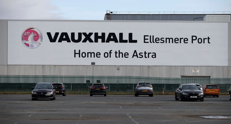 General view of the Vauxhall car plant at Ellesmere Port