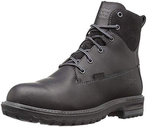 """<p><strong>Timberland PRO</strong></p><p>amazon.com</p><p><a href=""""https://www.amazon.com/dp/B01N9MHVSA?tag=syn-yahoo-20&ascsubtag=%5Bartid%7C2164.g.34010656%5Bsrc%7Cyahoo-us"""" rel=""""nofollow noopener"""" target=""""_blank"""" data-ylk=""""slk:Shop Now"""" class=""""link rapid-noclick-resp"""">Shop Now</a></p><p>If you want a boot with a bit of flair, go for these classic lace-up boots from Timberland. Despite the pretty leather exterior, these boots are actually waterproof and can hold up in mucky conditions. </p>"""