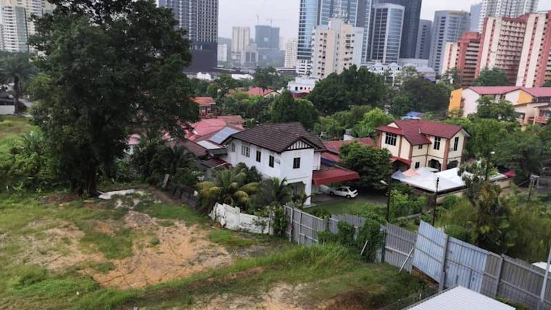 Aerial view of cleared land adjoining the Jalan Abdullah residential area. — Picture courtesy of Jalan Abdullah, Bangsar residents