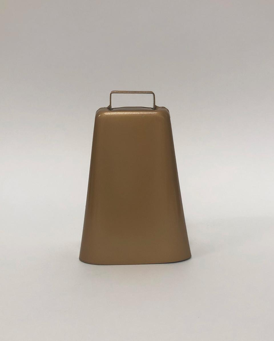 "The cowbell that staffers at the Samaritan's Purse emergency field hospital in Central Park would ring every time they'd discharge a patient<span class=""copyright"">Courtesy New-York Historical Society</span>"
