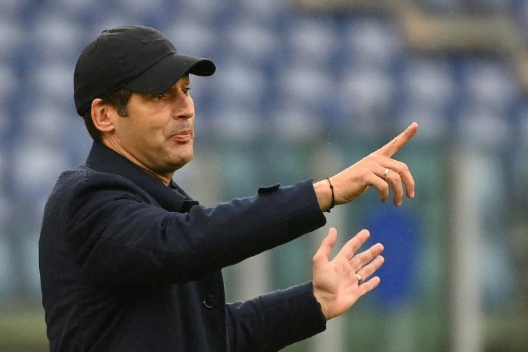 Under pressure: Paulo Fonseca's Roma play Spezia for the second time in a week.