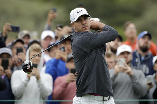After re-tearing his patella tendon in South Korea in October, Brooks Koepka is finally ready to get back on the course. (AP/Marcio Jose Sanchez)