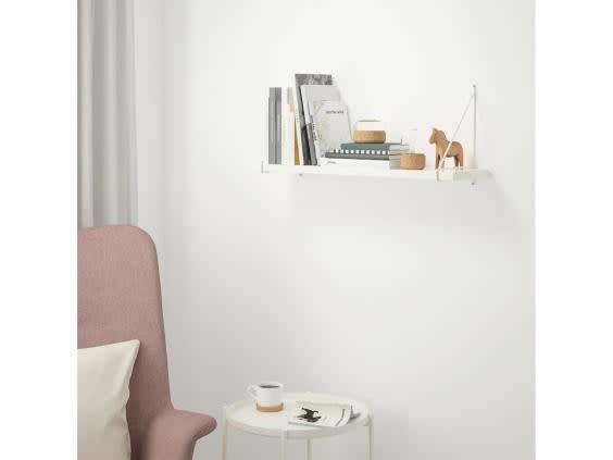 Whether you're storing books, decorative accessories or work documents, this shelf can hold up to 10kg of stuff and look good at the same time (Ikea)