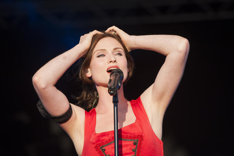 Sophie Ellis-Bextor performs live on stage on Day 2 of Camp Bestival 2014 at Lulworth Castle, Dorset.
