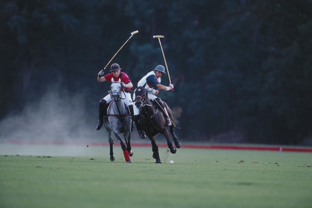 """Polo is a horseback mounted team sport. It is one of the world's oldest known team sports. Polo was first played in Persia (Iran) at dates given from the 6th century BC to the 1st century AD. Polo was at first a training game for cavalry units, usually the king's guard or other elite troops. From there it spread to the entirety of Persia and beyond. It is now popular around the world, with well over 100 member countries in the Federation of International Polo. It is played professionally in 16 countries. It was an Olympic sport from 1900 to 1936. Polo has been called """"the sport of kings"""". It has become a spectator sport for equestrians and society, often supported by sponsorship. Most polo players need about four horses in order to substitute tired horses. Polo ponies must be exercised regularly and this usually requires two grooms at $2,500 a month. Tournaments can cost anywhere between $3,500 and $150,000. To be a patron and sponsor polo teams in tournaments can cost anywhere between $300,000 and $1,000,000."""