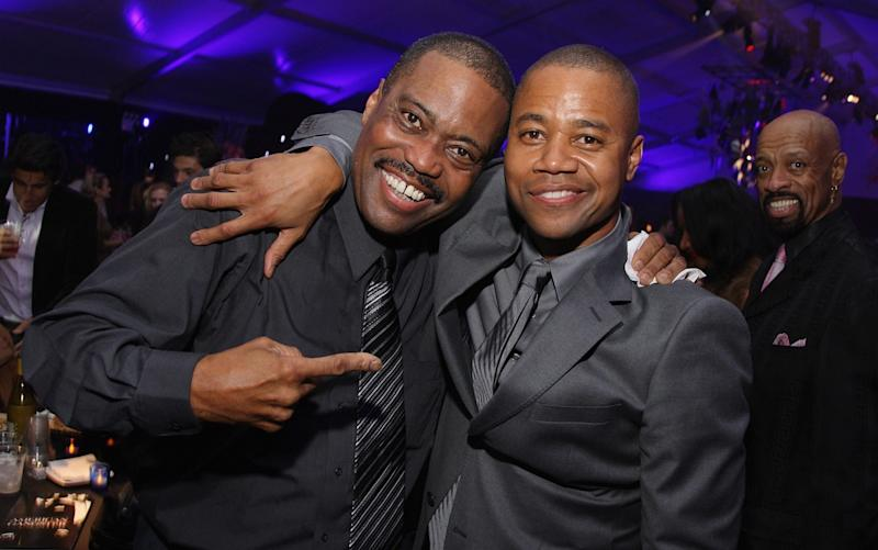 Cuba Gooding Sr. with his Oscar-winning son - Getty Images North America
