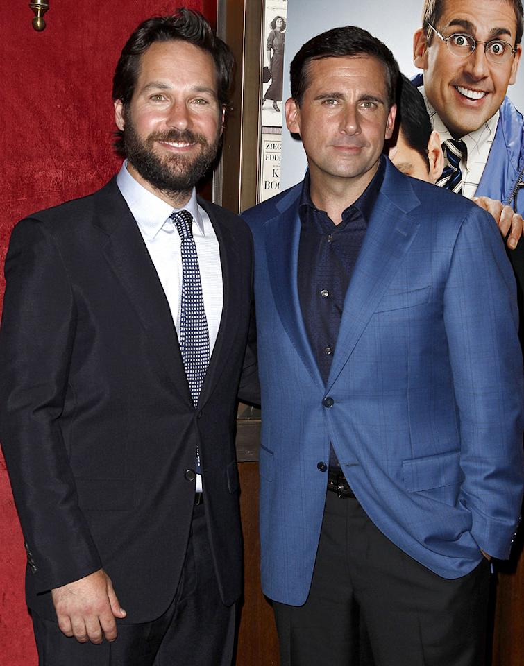 "<a href=""http://movies.yahoo.com/movie/contributor/1800018571"">Paul Rudd</a> and <a href=""http://movies.yahoo.com/movie/contributor/1804514078"">Steve Carell</a> at the New York City premiere of <a href=""http://movies.yahoo.com/movie/1810133251/info"">Dinner for Schmucks</a> - 07/19/2010"