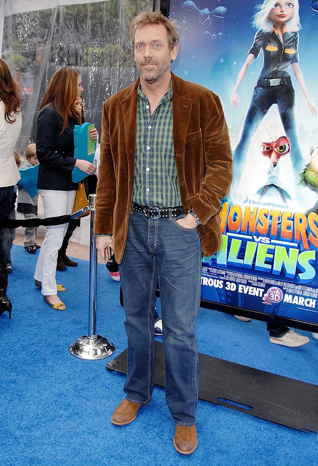 """<a href=""""http://movies.yahoo.com/movie/contributor/1800024921"""">Hugh Laurie</a> at the Los Angeles premiere of <a href=""""http://movies.yahoo.com/movie/1809918074/info"""">Monsters vs. Aliens</a> - 03/22/2009"""