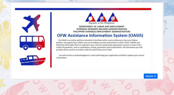 OFW Repatriation Guide - Register in OASIS