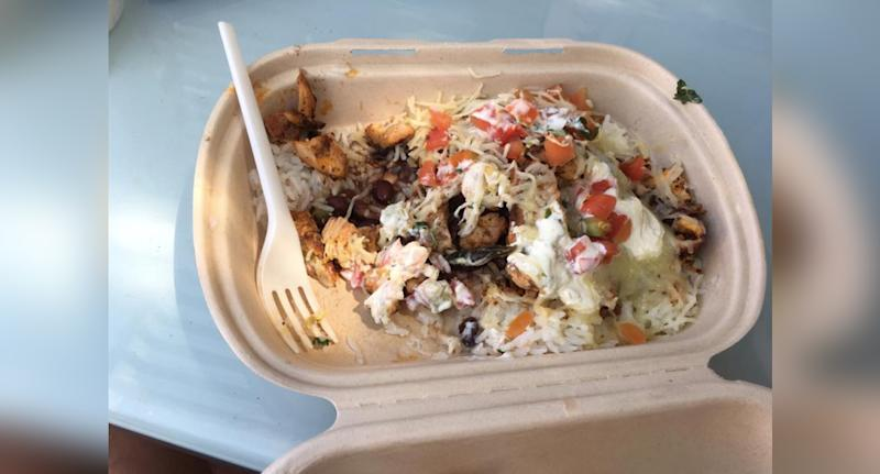 The burrito bowl was allegedly purchased from a Newtown Guzman y Gomez.