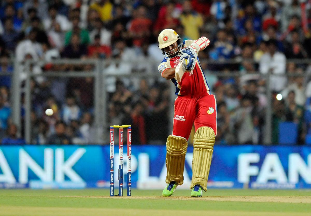Tillakaratne Dilshan of Royal Challengers Bangalore bats during match 37 of the Pepsi Indian Premier League ( IPL) 2013  between The Mumbai Indians and the Royal Challengers Bangalore held at the Wankhede Stadium in Mumbai on the 27th April 2013. (BCCI)
