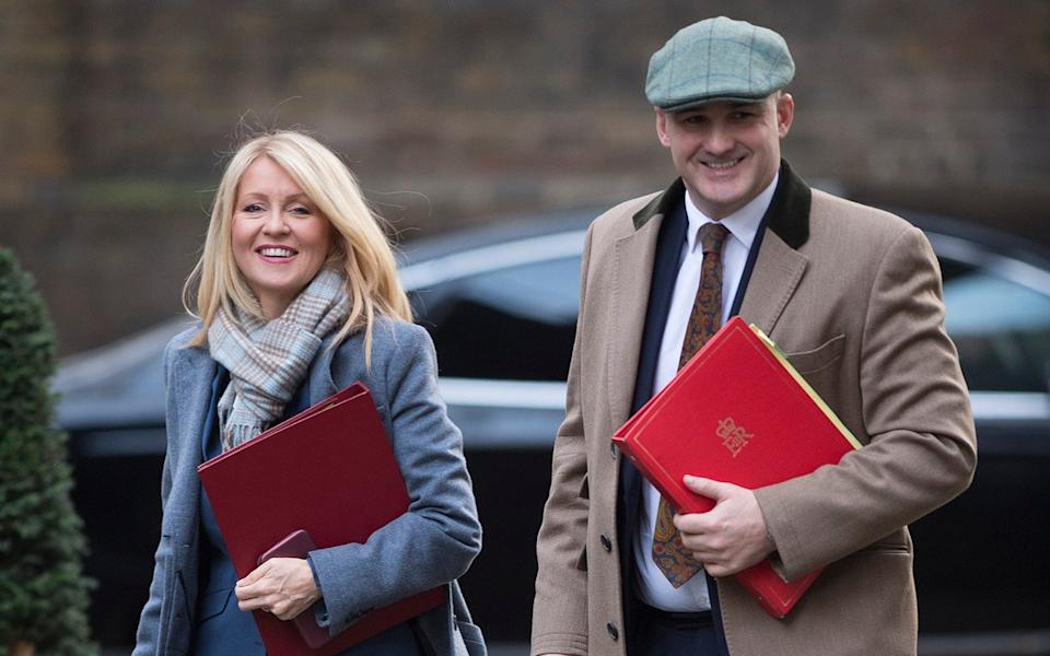 Esther McVey, who also signed the letter, and Jake Berry when they were both ministers - Eddie Mulholland