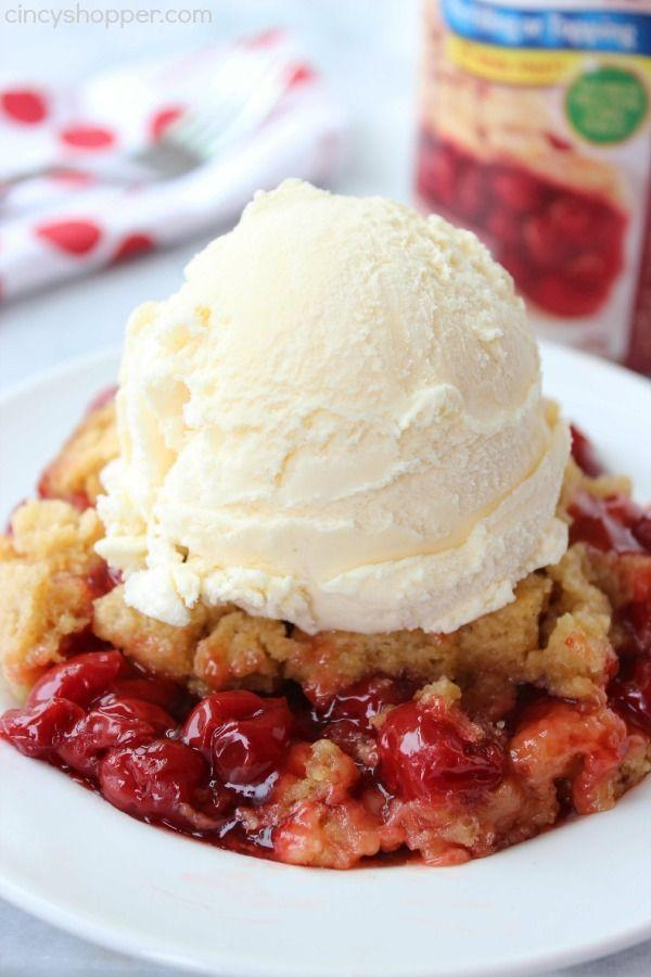 """<p>You only need three ingredients for this dump cake: pie filling, cake mix, and butter. </p><p><strong>Get the recipe at <a href=""""http://cincyshopper.com/slow-cooker-cherry-dump-cake/"""" rel=""""nofollow noopener"""" target=""""_blank"""" data-ylk=""""slk:Cincy Shopper"""" class=""""link rapid-noclick-resp"""">Cincy Shopper</a>. </strong></p>"""