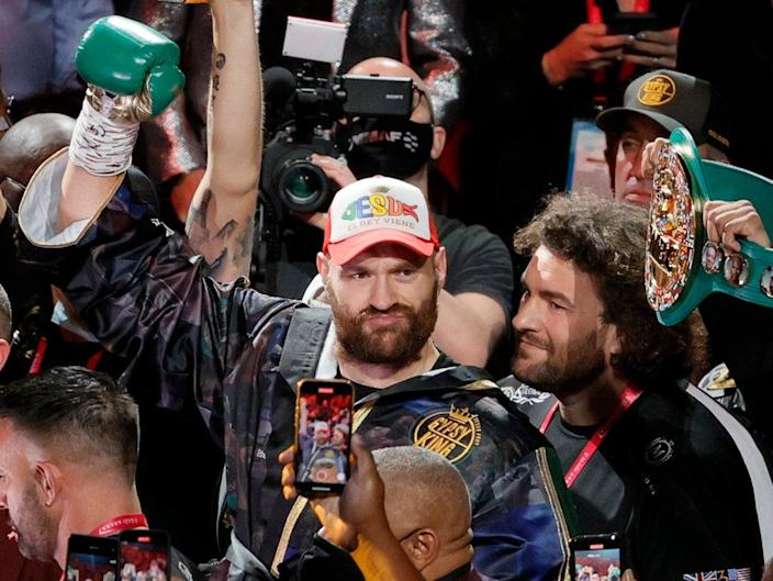 Tyson Fury moments before his second victory over Deontay Wilder (Getty Images)