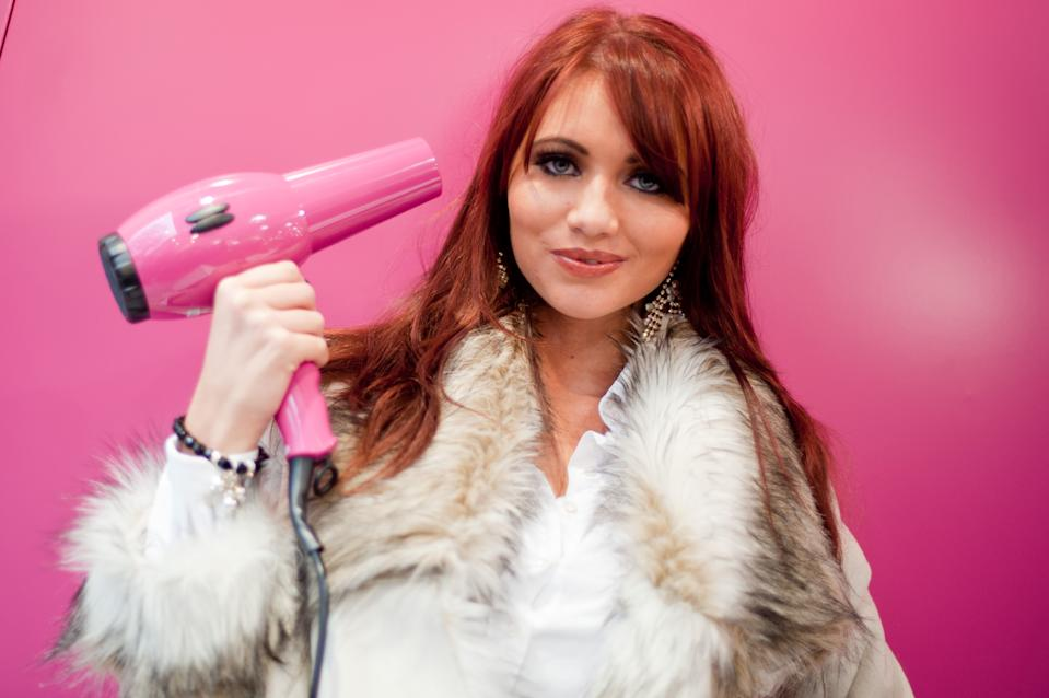 LONDON, UNITED KINGDOM - NOVEMBER 20: Amy Childs opens beauty shop 'Sally' at the sally store on November 20, 2010 in London, England. (Photo by Nick Pickles/WireImage)