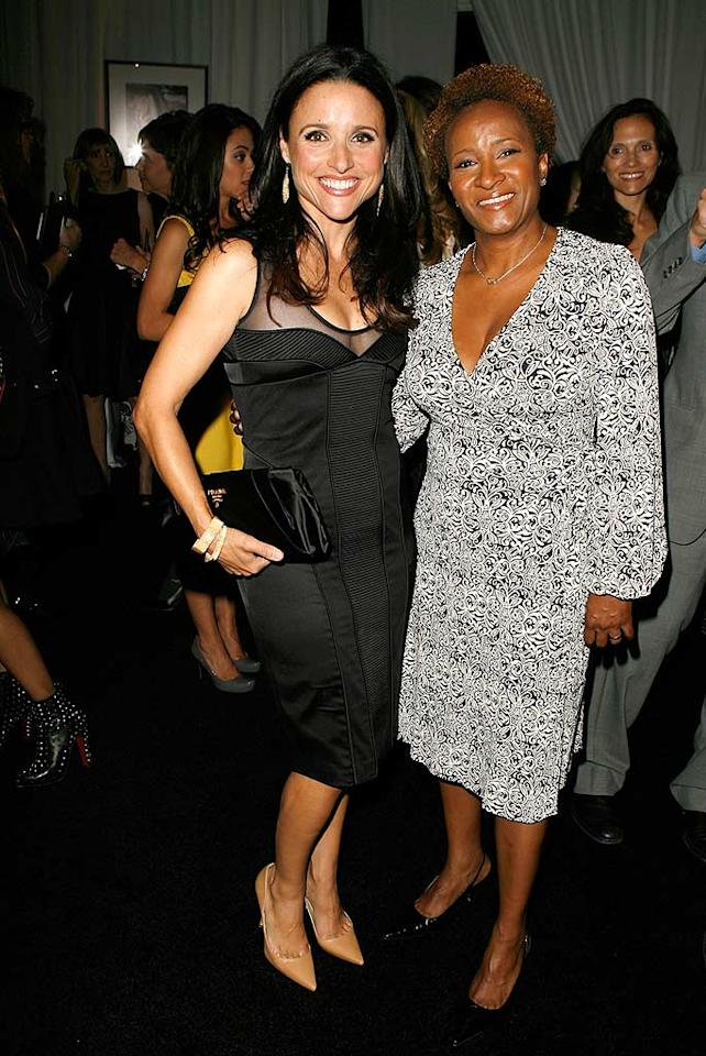 "Funny ladies Julia Louis-Dreyfus and Wanda Sykes caught up at the bash, which was held at the Four Seasons hotel in Beverly Hills, CA. Jeff Vespa/<a href=""http://www.wireimage.com"" target=""new"">WireImage.com</a> - October 15, 2007"