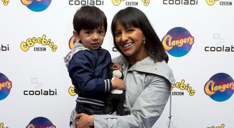 Ranvir Singh with son Tushaan who is now eight-years-old. (PA)