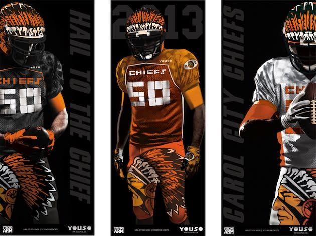 Carol City's new uniforms for the 2013 season, at the behest of Flo Rida — Twitter