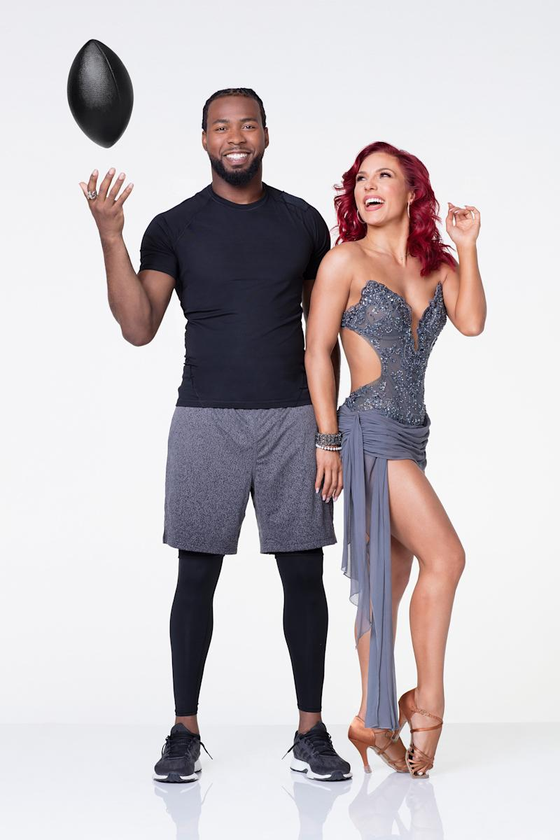 Why Sharna Burgess thinks Josh Norman is the 'whole package' (sorry, Adam Rippon)