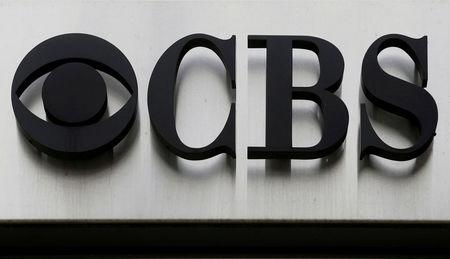 """FILE PHOTO -  The CBS """"eye"""" and logo are seen outside the CBS Broadcast Center on West 57th St. in Manhattan New York"""