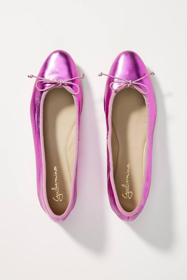 """<p>If you love metallics, these <a href=""""https://www.popsugar.com/buy/Mirabelle-Ballet-Flats-537836?p_name=Mirabelle%20Ballet%20Flats&retailer=anthropologie.com&pid=537836&price=100&evar1=savvy%3Aus&evar9=45342302&evar98=https%3A%2F%2Fwww.popsugar.com%2Fhome%2Fphoto-gallery%2F45342302%2Fimage%2F47139278%2FMirabelle-Ballet-Flats&list1=shopping%2Cgifts%2Choliday%2Cchristmas%2Cgift%20guide%2Cvalentines%20day%2Cgifts%20for%20women&prop13=api&pdata=1"""" rel=""""nofollow"""" data-shoppable-link=""""1"""" target=""""_blank"""" class=""""ga-track"""" data-ga-category=""""Related"""" data-ga-label=""""https://www.anthropologie.com/shop/mirabelle-ballet-flats?category=shoes-flats&amp;color=066&amp;type=STANDARD"""" data-ga-action=""""In-Line Links"""">Mirabelle Ballet Flats</a> ($100) are cute.</p>"""