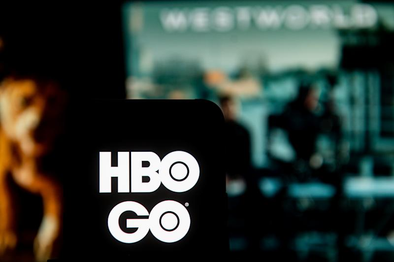 POLAND - 2020/03/23: In this photo illustration an HBO GO logo seen displayed on a smartphone. (Photo Illustration by Mateusz Slodkowski/SOPA Images/LightRocket via Getty Images)