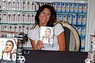 Olympic soccer player Hope Solo promotes her book 'Solo: A Memoir of Hope' at the Sugar Factory at the Paris Las Vegas in Las Vegas, Nevada -28.09.12