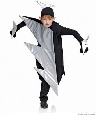 "<div class=""caption-credit""> Photo by: Gabrielle Revere</div><div class=""caption-title"">Lightning Bolt Costume</div><p> <b>All you need is:</b> an over-size black shirt, silver lame, heavy cardstock, batting, black felt, fabric glue, black gloves <br> </p> <p> For the wild child whose energy seems to be heaven-sent, what better choice than a bright bolt? He'll be sure to electrify the entire neighborhood! </p> <p> <a href=""http://www.parenting.com/article/Toddler/Activities-Parties/Lightning-Bolt-Costume?src=syn&dom=shine"" rel=""nofollow noopener"" target=""_blank"" data-ylk=""slk:Learn how to make it!"" class=""link rapid-noclick-resp"">Learn how to make it!</a> <br> <a href=""http://www.parenting.com/halloween?src=syn&dom=shine"" rel=""nofollow noopener"" target=""_blank"" data-ylk=""slk:Visit Halloween Central"" class=""link rapid-noclick-resp"">Visit Halloween Central</a> </p>"