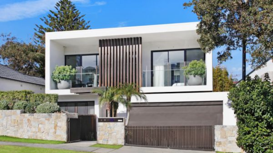 The exterior of the home in North Bondi which sold for over $11 million.