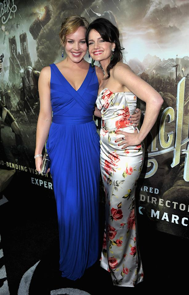 """<a href=""""http://movies.yahoo.com/movie/contributor/1804856742"""">Abbie Cornish</a> and <a href=""""http://movies.yahoo.com/movie/contributor/1800024683"""">Carla Gugino</a> at the Los Angeles premiere of <a href=""""http://movies.yahoo.com/movie/1810133258/info"""">Sucker Punch</a> on March 23, 2011."""