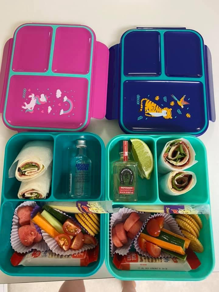 Lunchbox with alcohol hidden in joke parenting