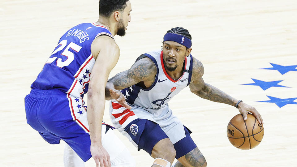 Ben Simmons and Bradley Beal, pictured here in action during the opening round of the NBA playoffs.