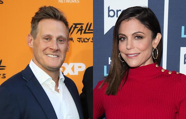 Trevor Engelson and Bethenny Frankel. (Photo: Charles Sykes/Bravo/NBCU Photo Bank via Getty Images)