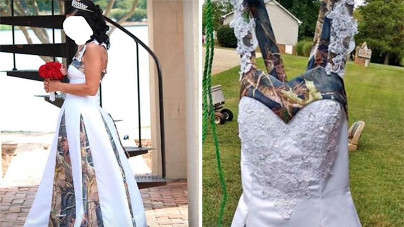 Second hand camouflage wedding dress for sale online