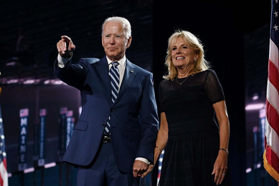 Joe with his second wife Jill Biden at the Democratic National ConventionAFP via Getty Images